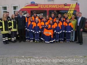 Die Jugendfeuerwehr Bad Nenndorf freut sich über die schicken und funktionalen Jacken.