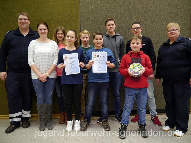 Die Jugendfeuerwehr Ohndorf belegte den ersten Platz.
